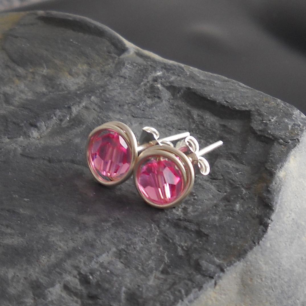 easy wire wrapped stud earrings eat breathe design