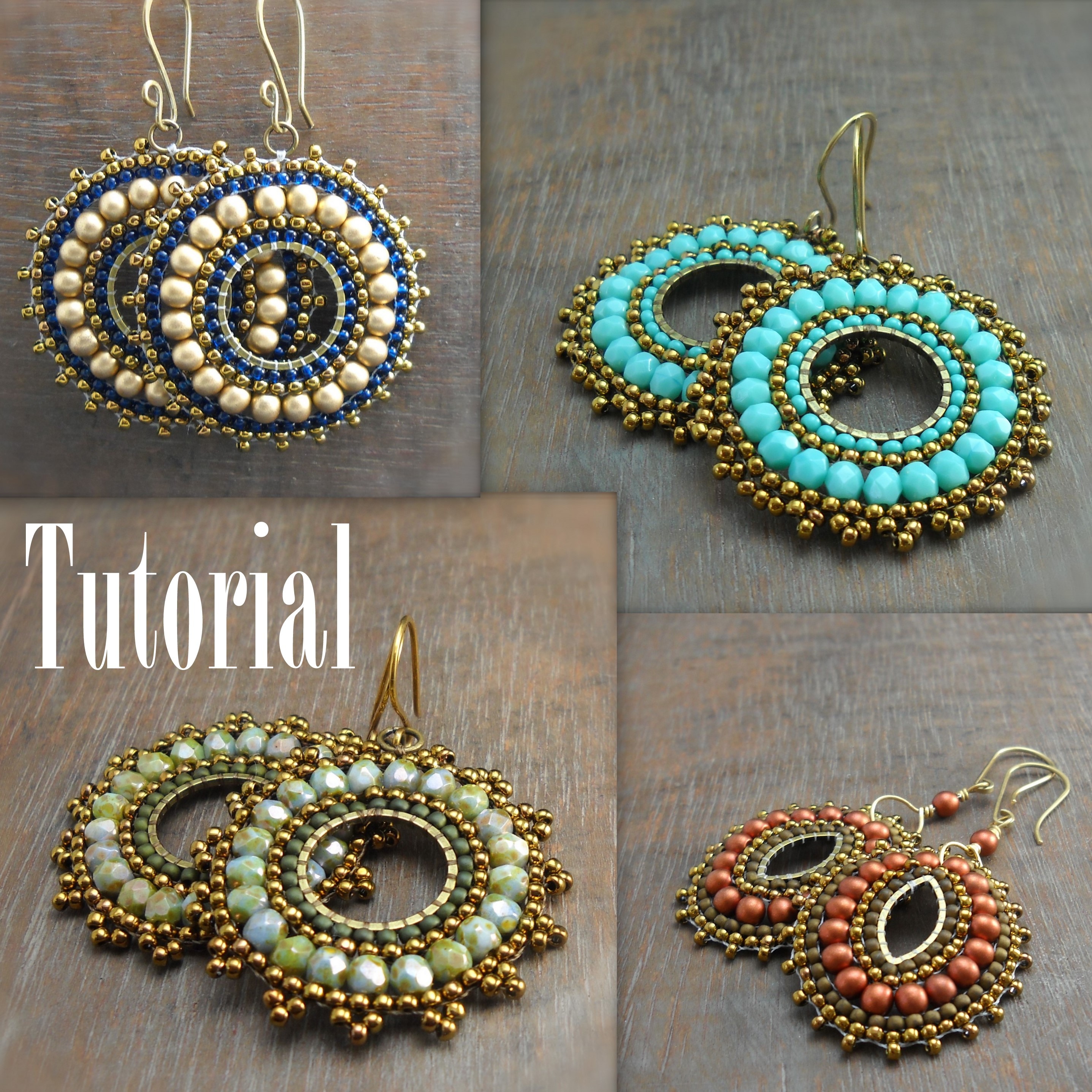 Bead Woven Medallion Earrings | Eat. Breathe. Design.